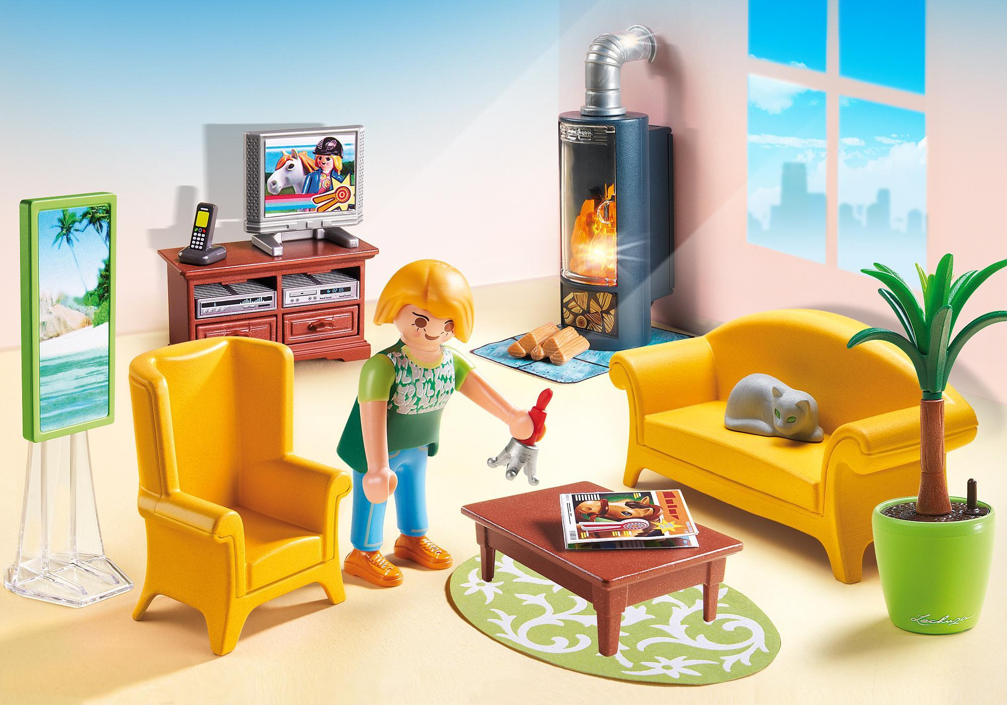 5302 Playmobil Living Room With Fireplace 5308 Playmobil Usa