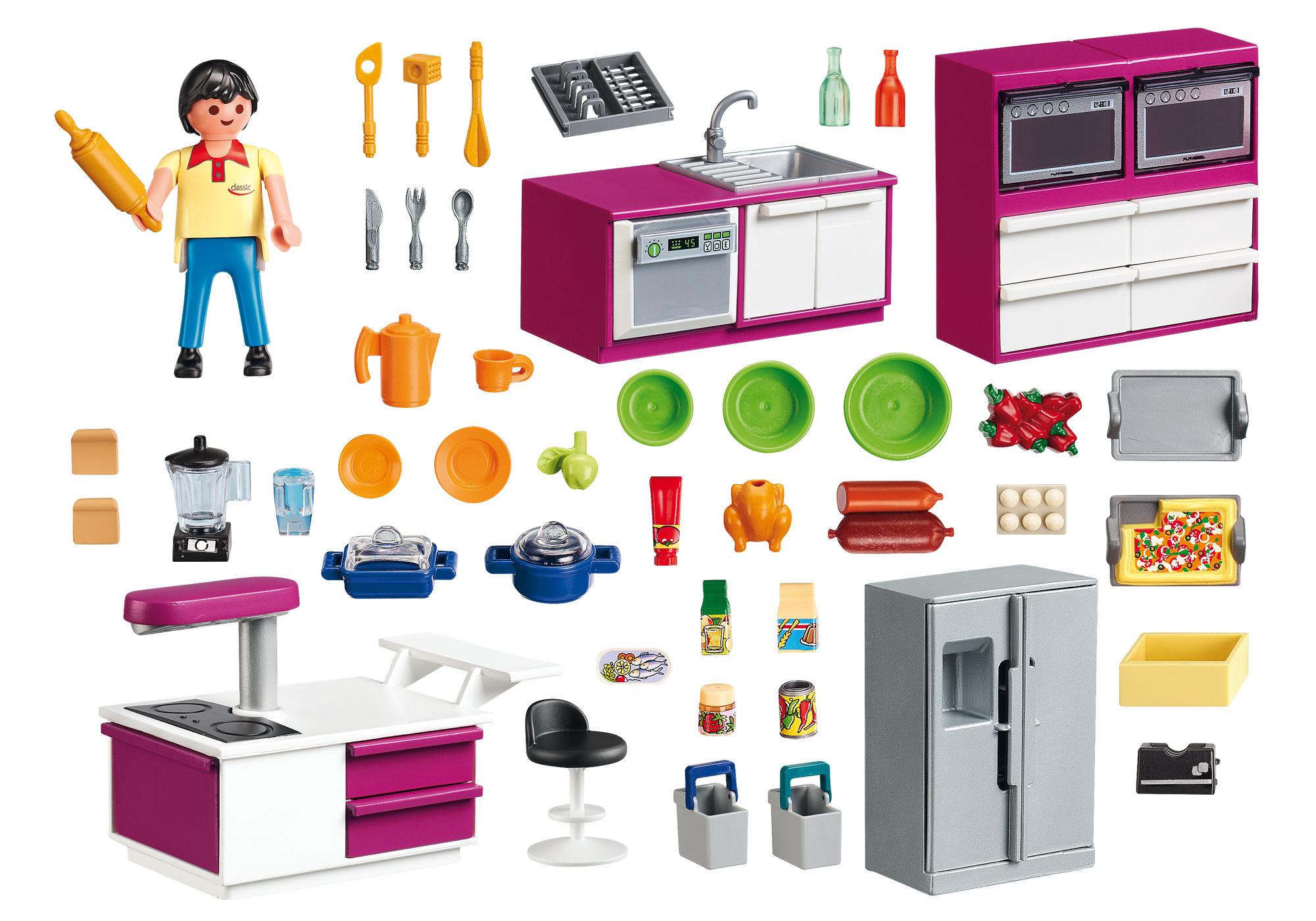 Playmobil City Life Küche 9269 Cuisine Avec îlot 5582 Playmobil France