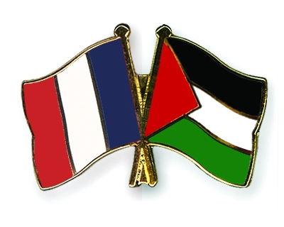 France and Palestine flags