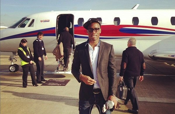 Drogba shortly before heading for Istanbul Turkey