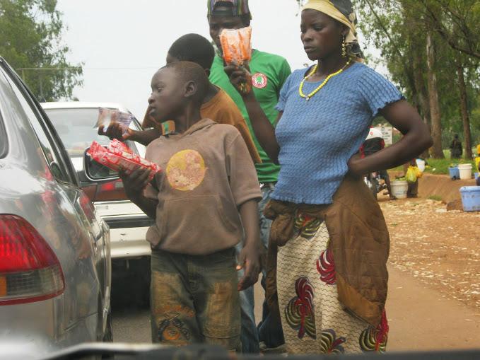 Street trading in Jos