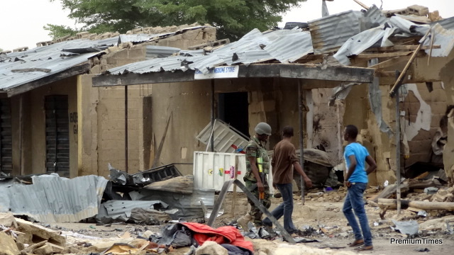 When Boko Haram attack villages, they raze it.