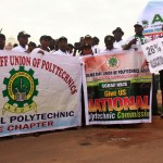 ASUP Strike protesters at the Federal Secretariat Abuja, on monday