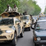 Nigerian soldiers on patrol in Maiduguri
