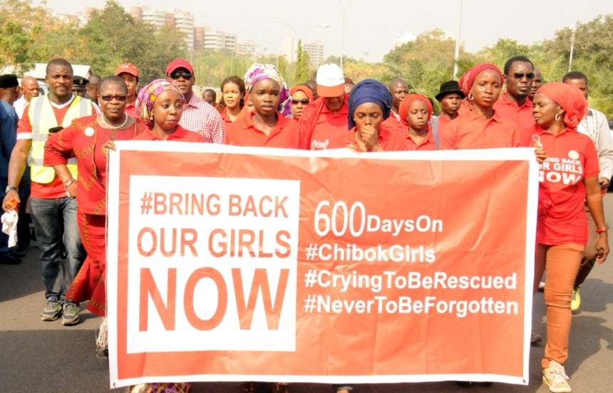 PIC. 8.  BRIG-BACK-OUR-GIRLS' PROTEST MATCH IN ABUJA