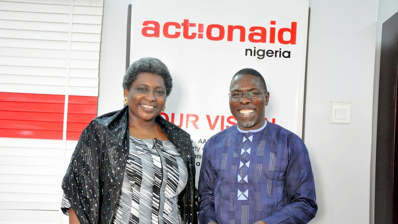 ActionAid Nigeria, Country Director Ojobo Atuluku and Honourable Olusegun