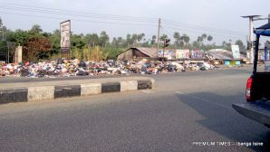 Dump site by Jami Cyber Cafe, Melford Okilo Way