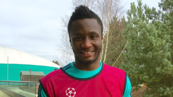 Mikel all smiles after Chelsea's last training session