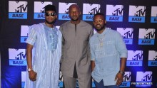 Dbanj, Co-host of Lip Sync Battle Africa, Alex Okosi,Senior Vice President, Viacom Africa, Falz, host of the bigger friday show