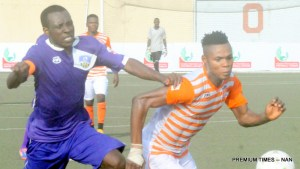 MFM FC playing a match in the NPFL