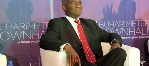 FILE PHOTO: Babatunde Fashola at the Town Hall metting organized by Centre for Democracy and Development