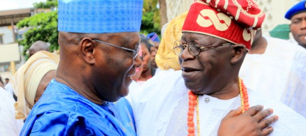 Former Vice President and chieftain of All Progressives Congress (APC) Atiku Abubakar and Asiwaju Bola Tinubu