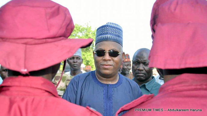 Mr Shettima and members of Vigilante Group of Nigeria