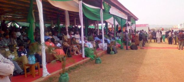 Visitors at the Jos Trade Fair on Thursday.