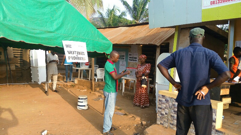 Voters, voting, Ondo