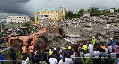 Abuja Building Collapse: NEMA confirms one dead, but residents say many buried