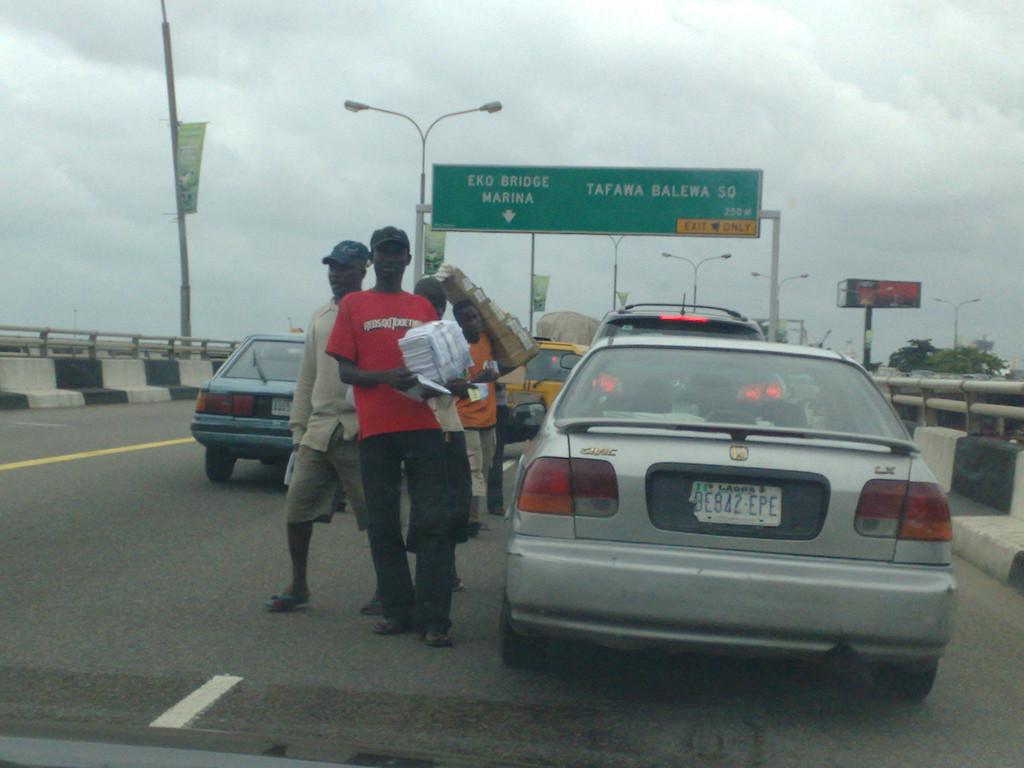 street-hawking in Lagos