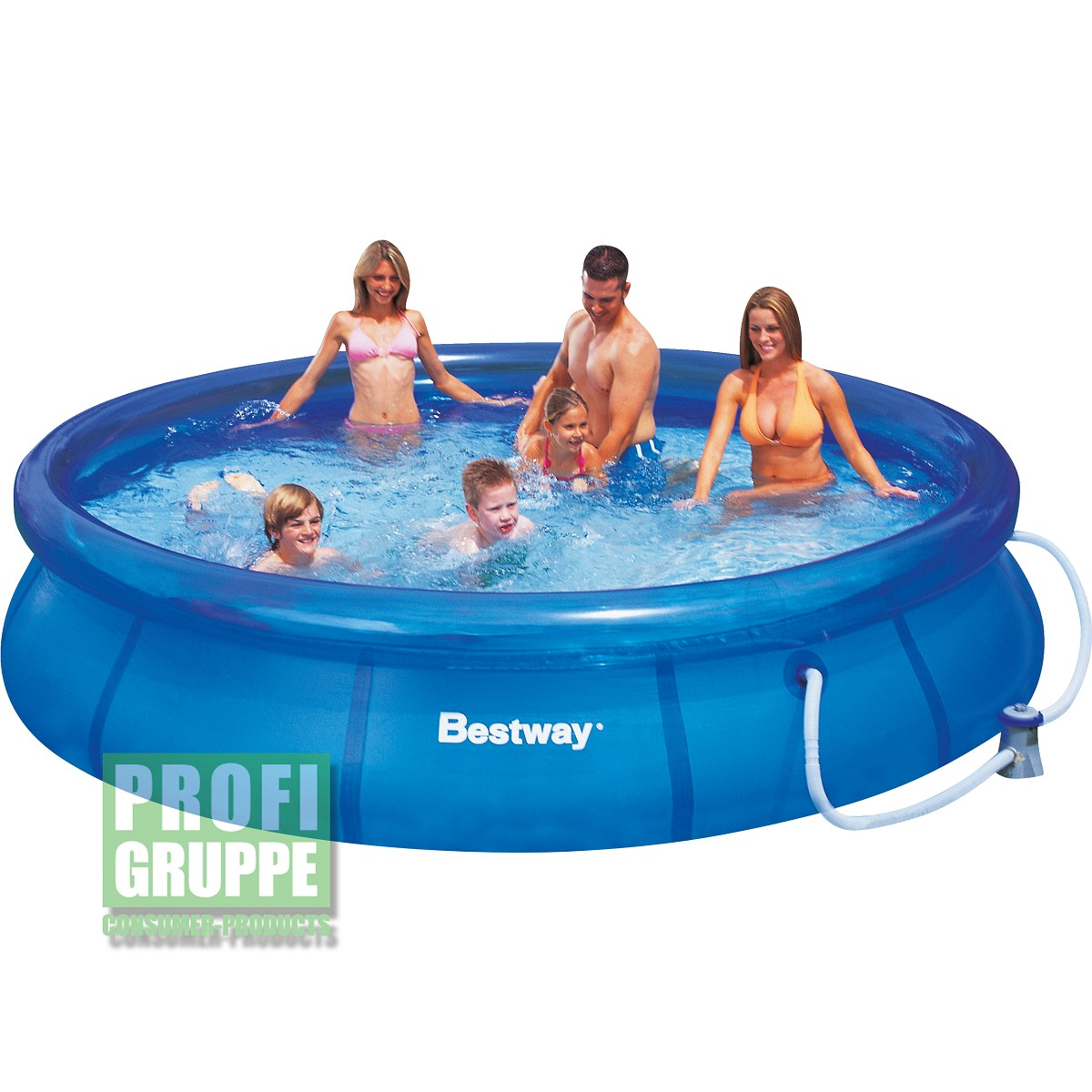 Bestway Pool Pumpe Zieht Luft Bestway 366x76cm Fast Set Pool Quick Up Schwimmbecken Mit