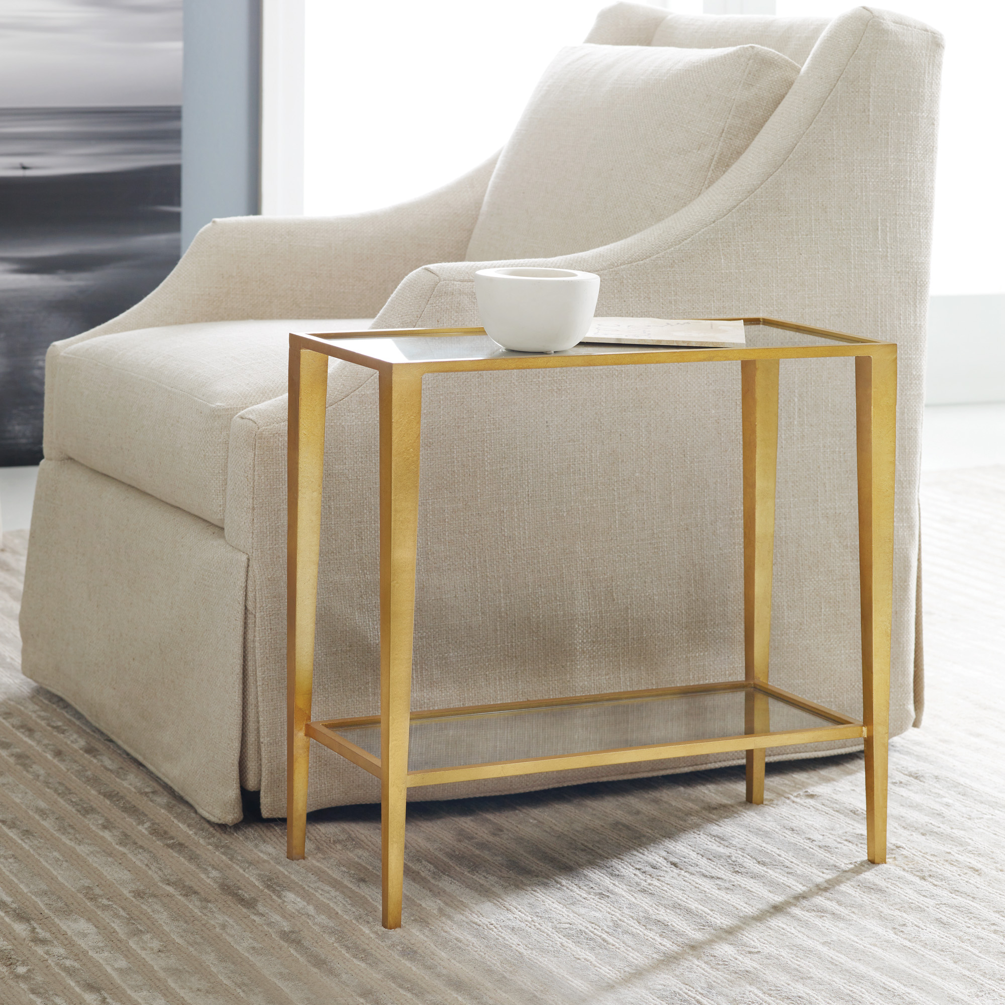 Modern Chairside Table Large Gilt Chairside Table End And Occasional Tables