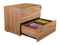 Elite 2 Drawer Side Filing Cabinet in Black Walnut