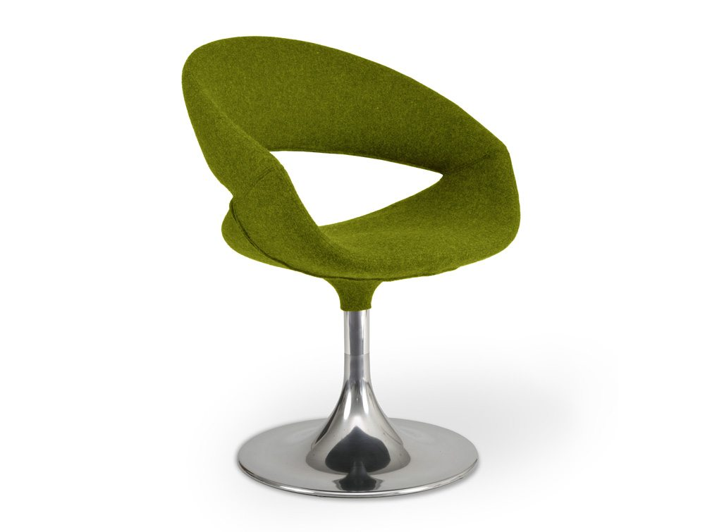 Grace Lounge Chair With Trumpet Base