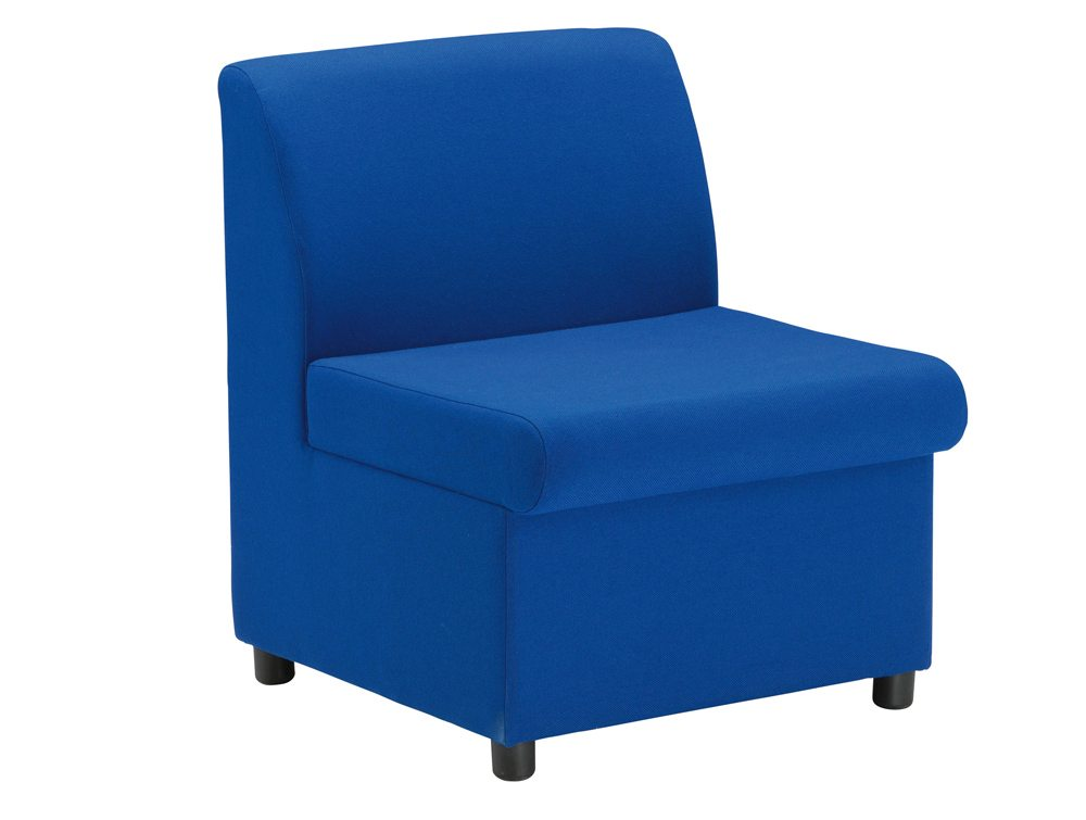 Trexus Modular Reception Chair Fully Upholstered Seat In Blue