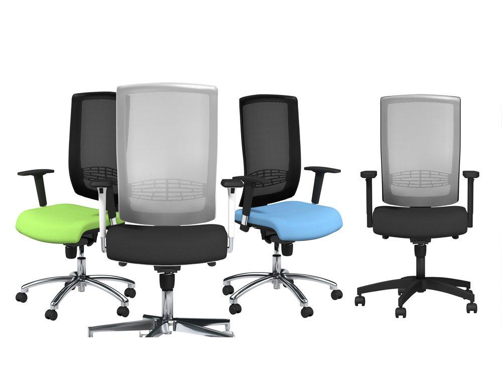 Begin Mesh High Backrest White Swivel Chair With Chrome