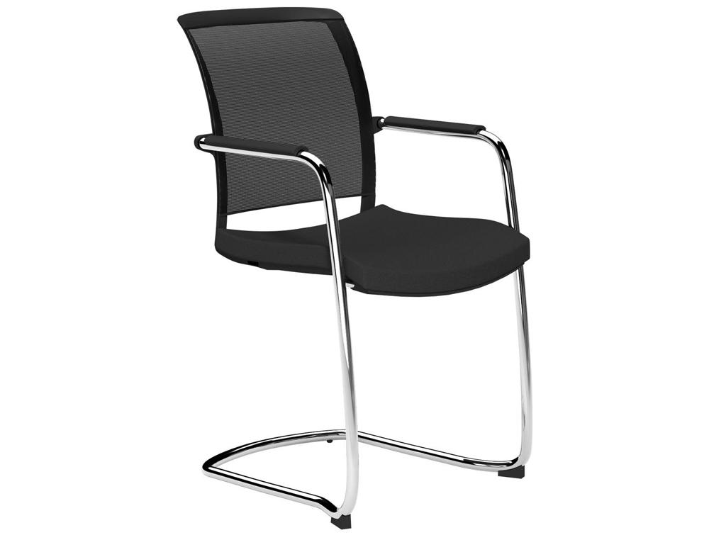 Oz Series Mesh Back Cantilever Chair In Black Radius