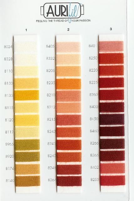 Aurifil Thread Wool Color Chart