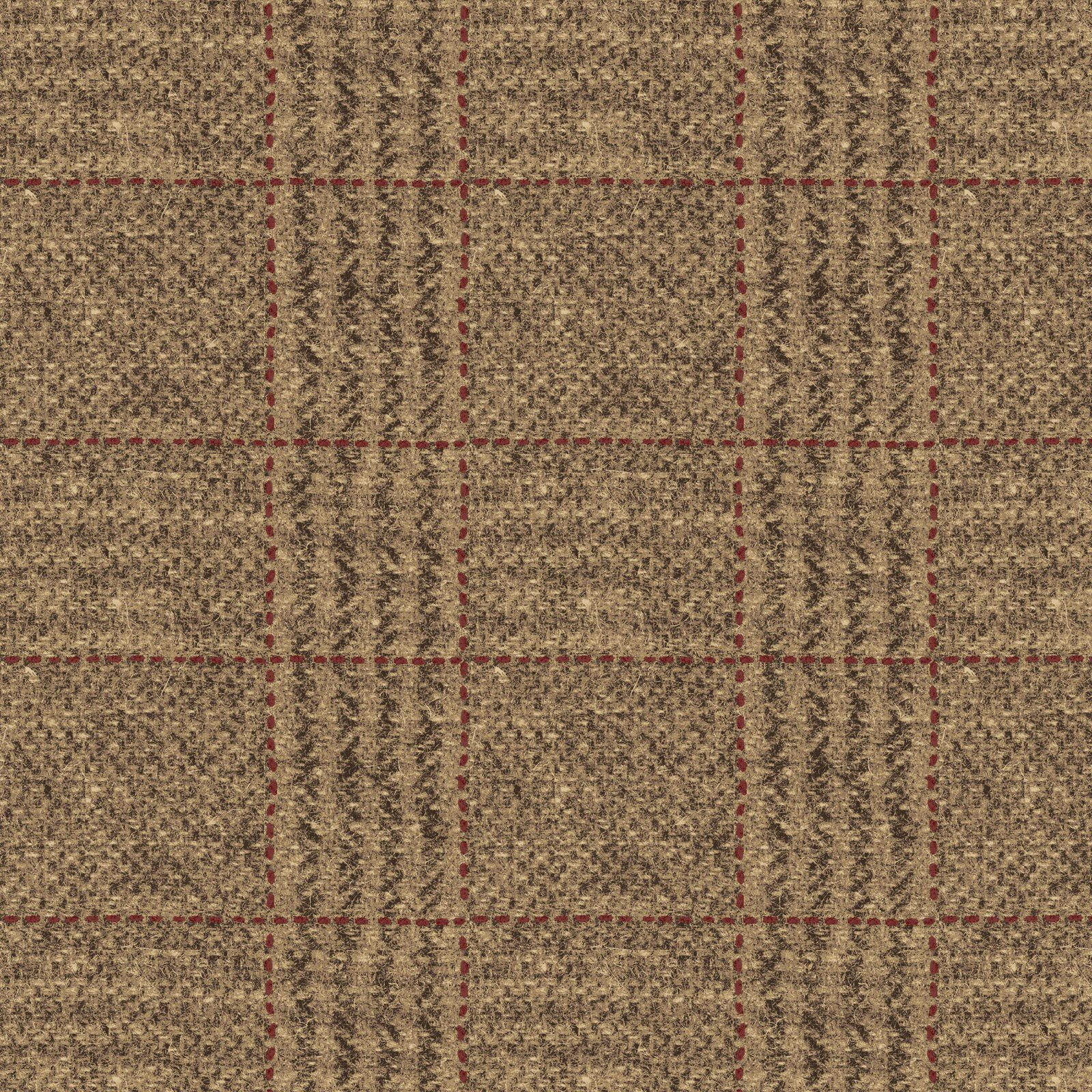 Plaid Taupe Spirit Of America Wool Chubby Sixteenths Lg Plaid Taupe