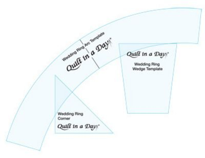 Quilt in a Day Double Wedding Ring Templates with Arc, Corner, and
