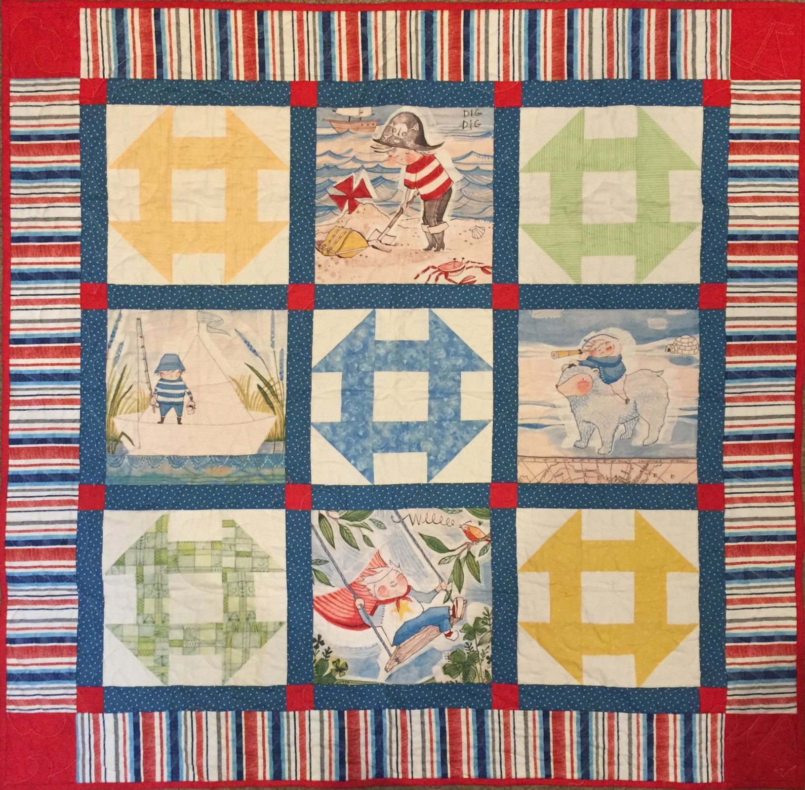 Baby Quilts.com Churn Dash Adventure Baby Quilt
