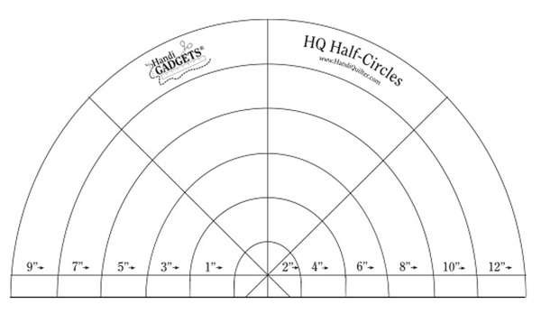 HQ Ruler Set Half-Circle Templates - circle template