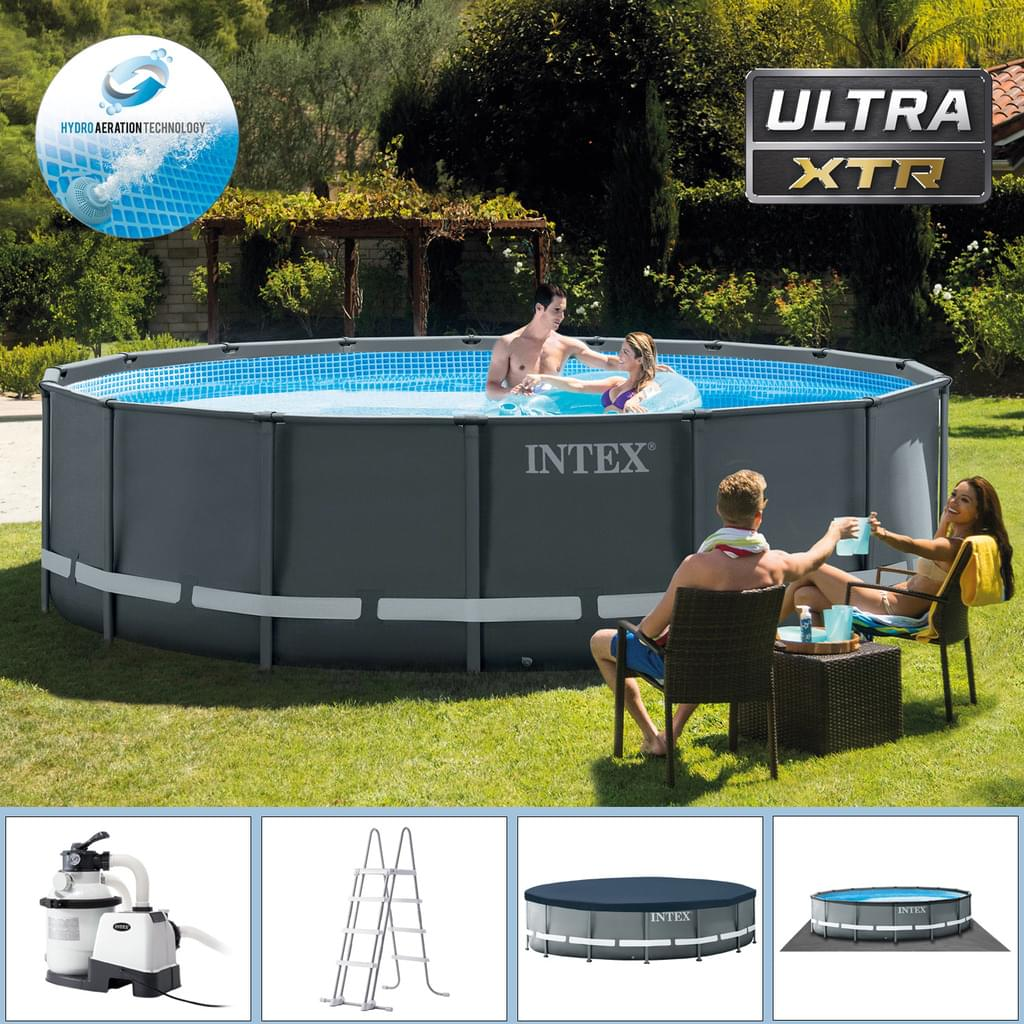 Pool Reinigen Und Abbauen Intex Swimming Pool Ø 488 X 122 Cm Frame Pool Set Ultra Rondo Xtr
