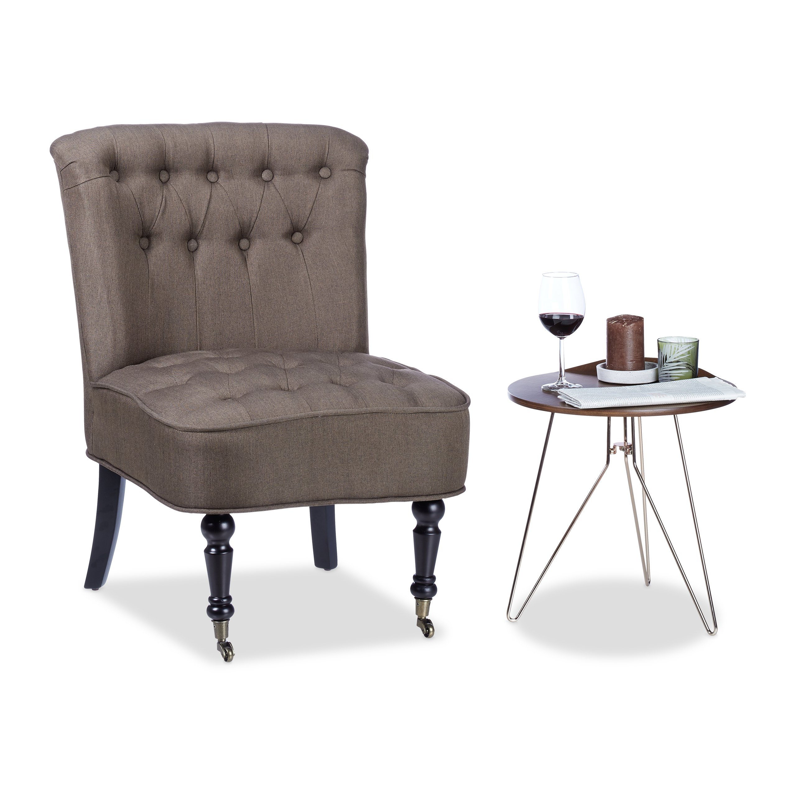 Sessel Tv Details Zu Cocktailsessel 50er Braun 2 Rollen Sessel Tv Sessel Ruhesessel Einsitzer