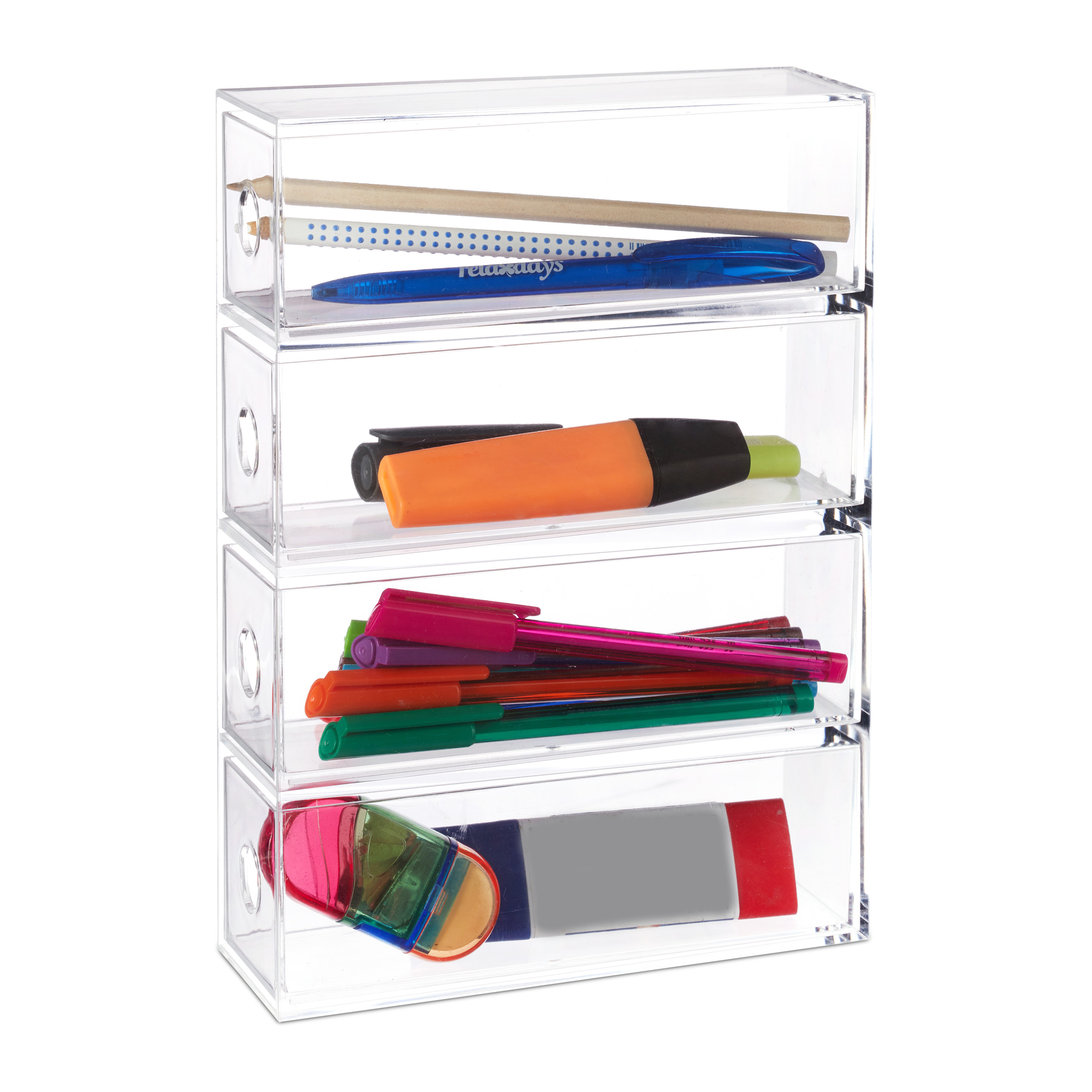 Badezimmer Accessoires Acryl Make Up Organizer Acryl Sortierbox 4 Fächer