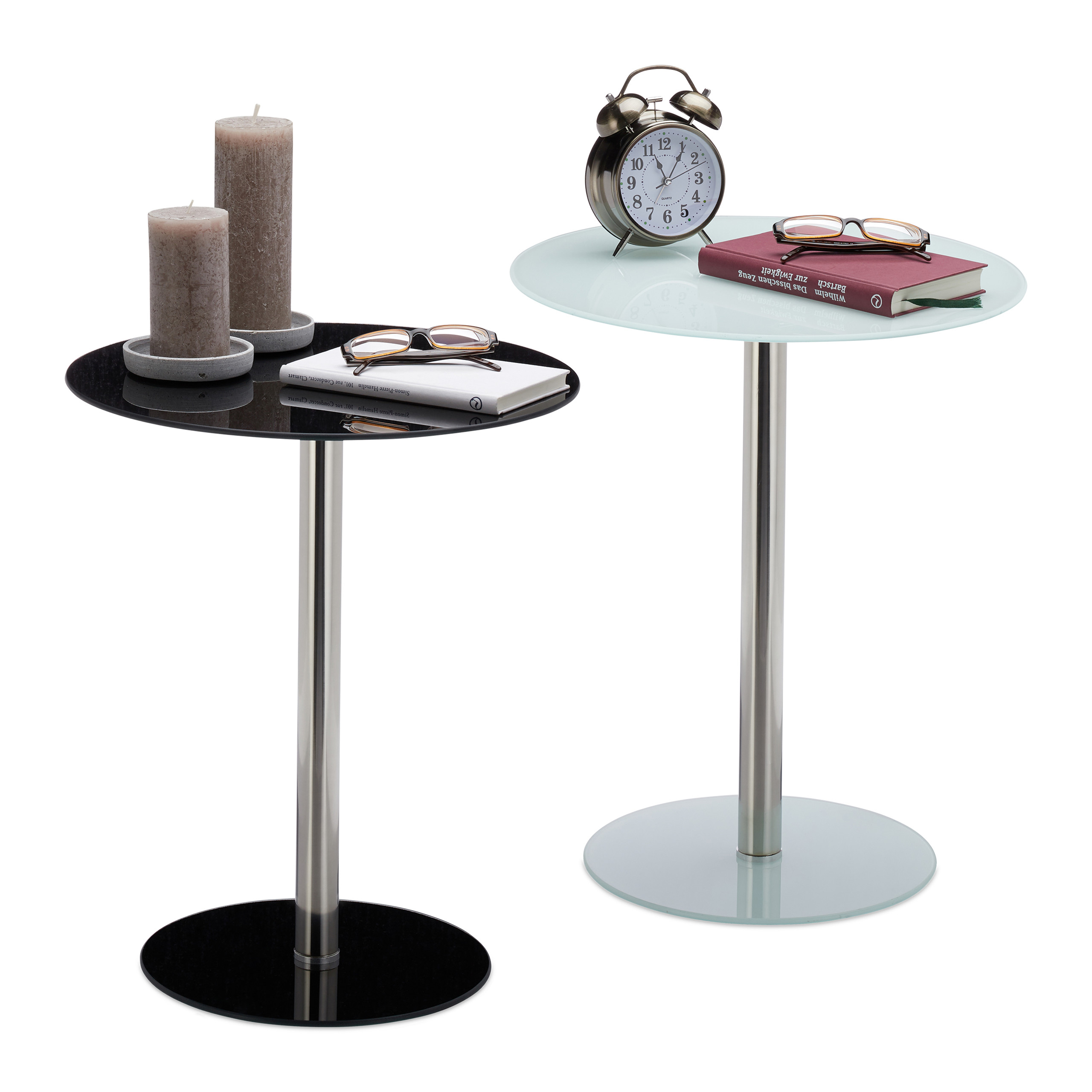 Table Appoint Verre Détails Sur Table D Appoint Verre Inox Ronde Table Design De Salon Pause Café Décoration