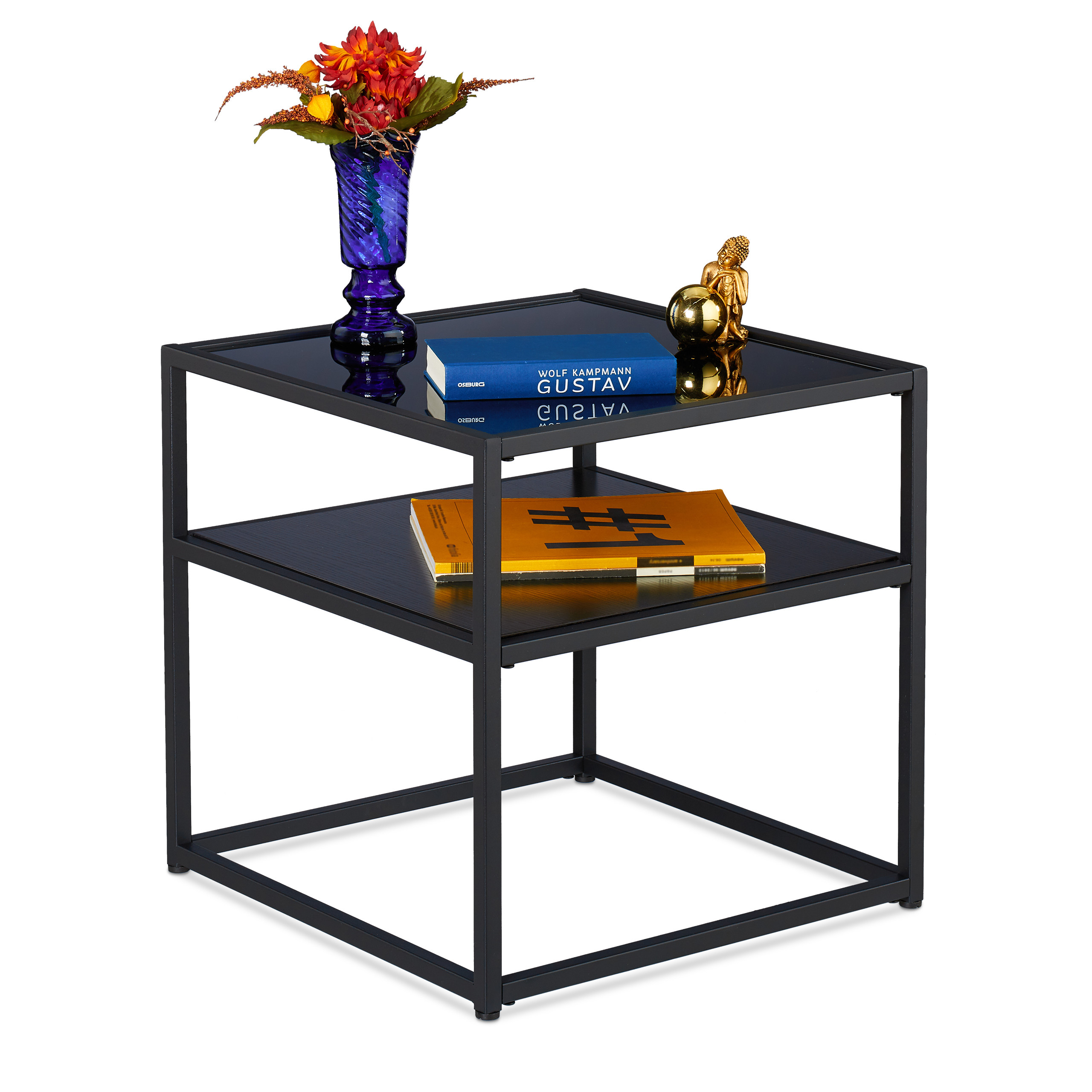 Couchtisch 50x50x50 Side Table Lounge Table Coffee Table Metal Table Black