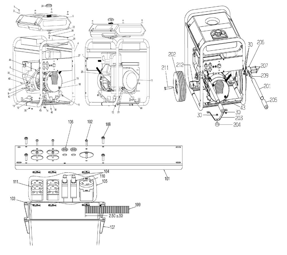 porter cable 5500 watt generator wiring diagram