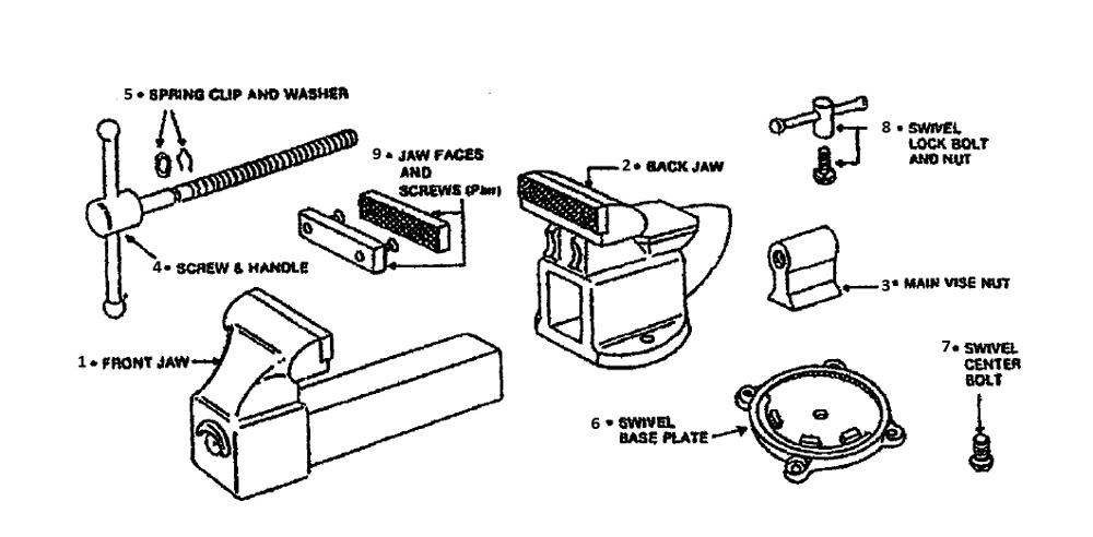 list wilton d45m4 repair parts oem parts with schematic diagram