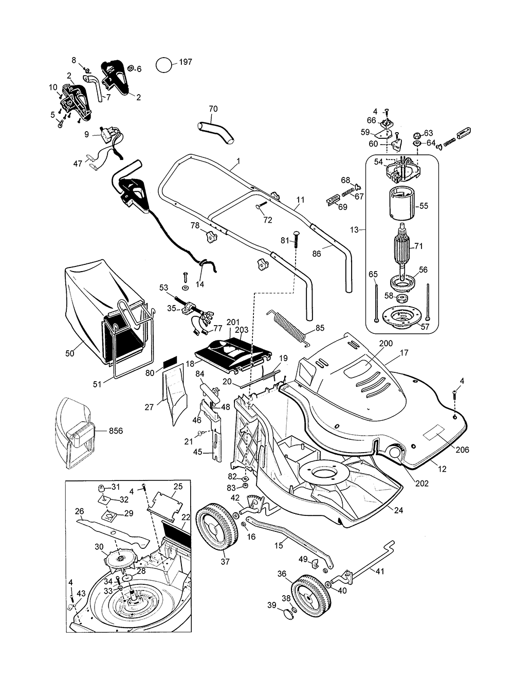 black and decker mm875 parts list and diagram type 1 black cat