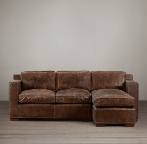 Sectional Couches Preconfigured Collins Leather Right-arm Chaise Sectional