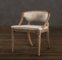 Swedish Demi-Lune Fabric Chair