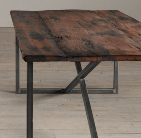 Tavoli In Legno Grezzo Salvaged Boatwood Rectangular Dining Table