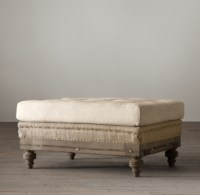 Deconstructed Chesterfield Upholstered Ottoman