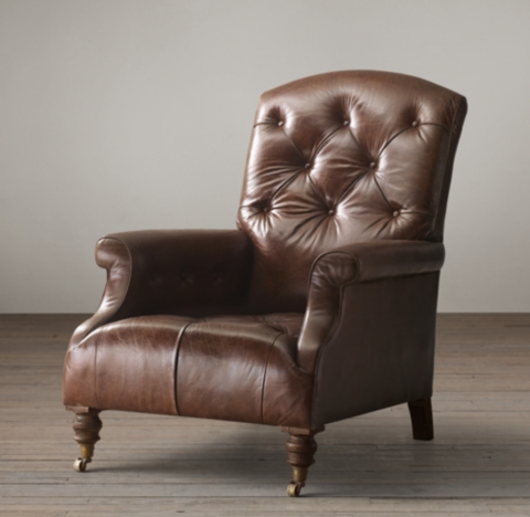 Diplomat Leather Club Chair