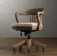 1940s Banker's Chair - Weathered Oak Drifted
