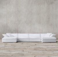 White Leather Modular Sofa Modular Sectional Sofa - TheSofa
