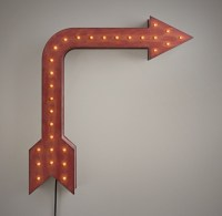 Vintage Illuminated Arrow - Distressed Red