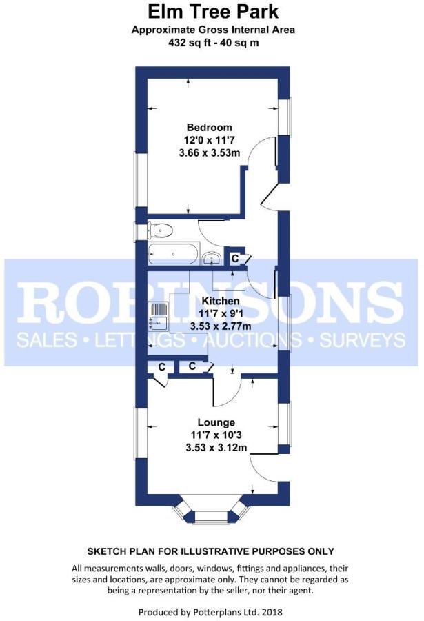1 bedroom detached bungalow for sale in Elm Tree Park, Queen Street